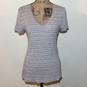 Tahari Striped Short Sleeve T-Shirt